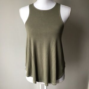 American Eagle shirt size XS tank top green soft
